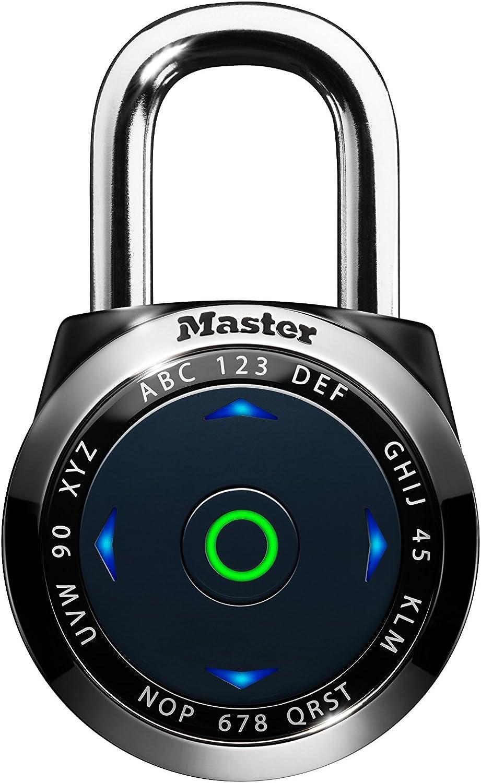 Master Lock 1500eEURDBLK Candado electr/ónico con combinaci/ón para vestuarios Negro 52 mm