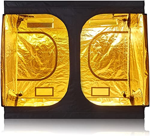 TopoGrow D-Door 96 x96 X78 Indoor Grow Tent Room 600D Mylar High Reflective Non Toxic Hut 8 X8