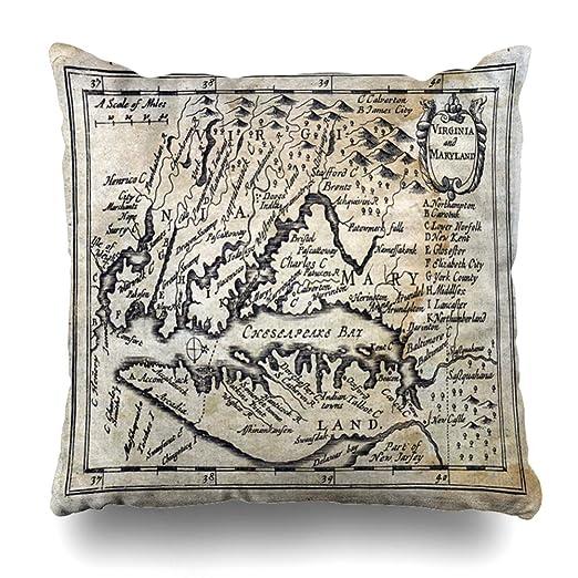 Amazon.com: Ahawoso - Funda de almohada cuadrada de mármol ...