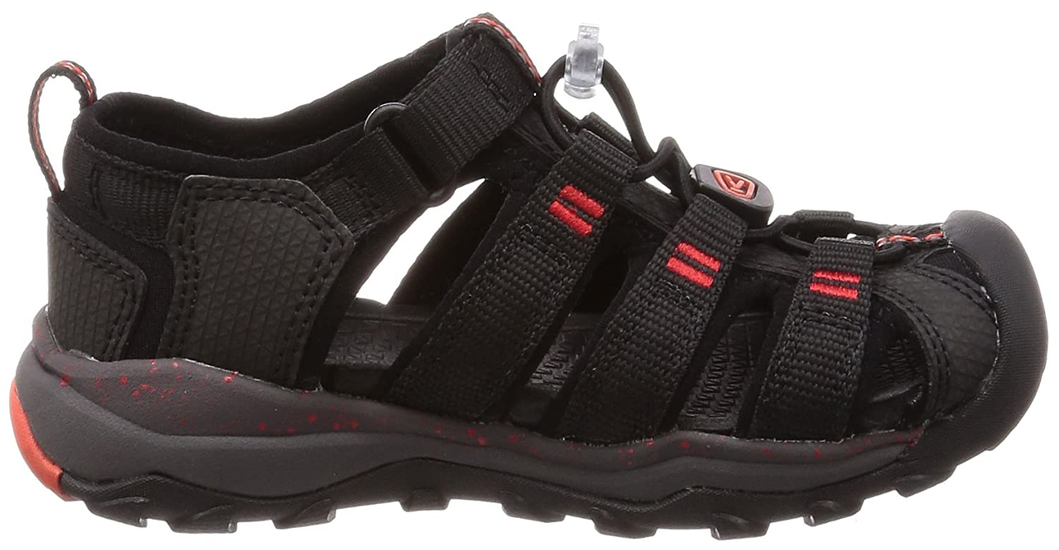 04f9c4d4e4a4 Amazon.com  KEEN Newport Neo H2 Kids Sandals 13 M US Little Kid Black Firey  Red  Shoes