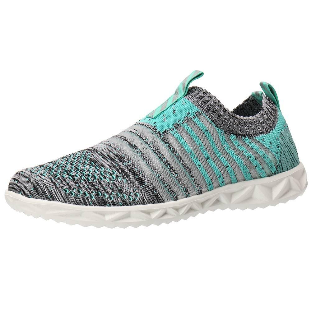 ALEADER Women's Mesh Slip on Water Shoes B071NZF5JS 10 B(M) US Green/Gray