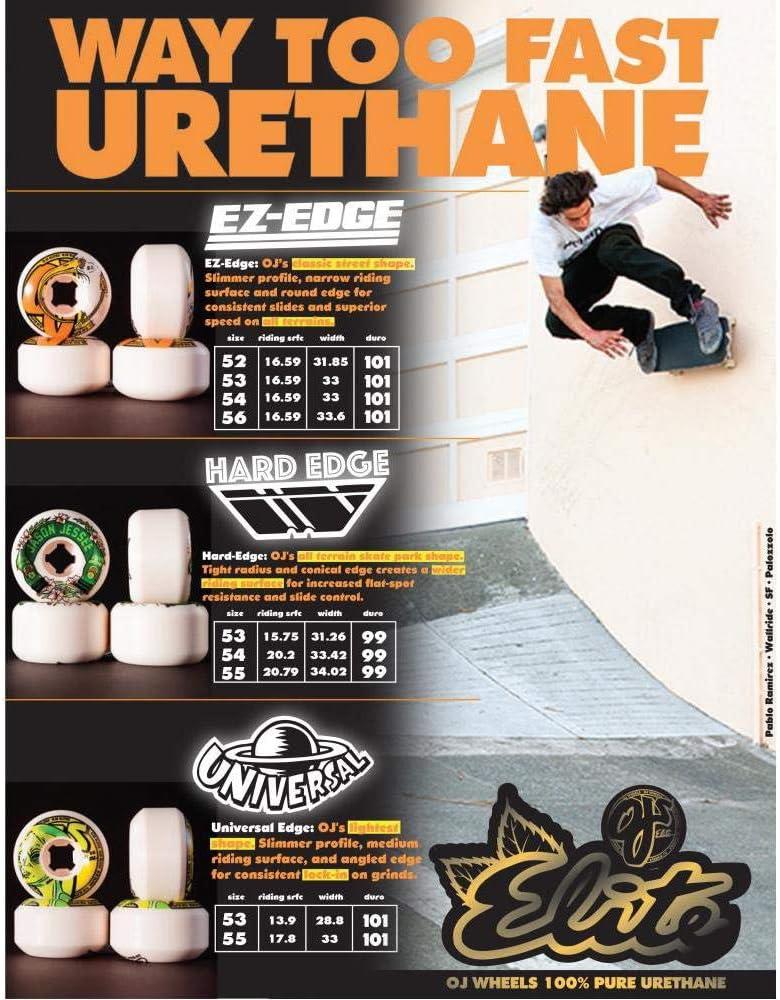 OJ Elite Skateboard Wheels Nomads 95a Multi 54 MM