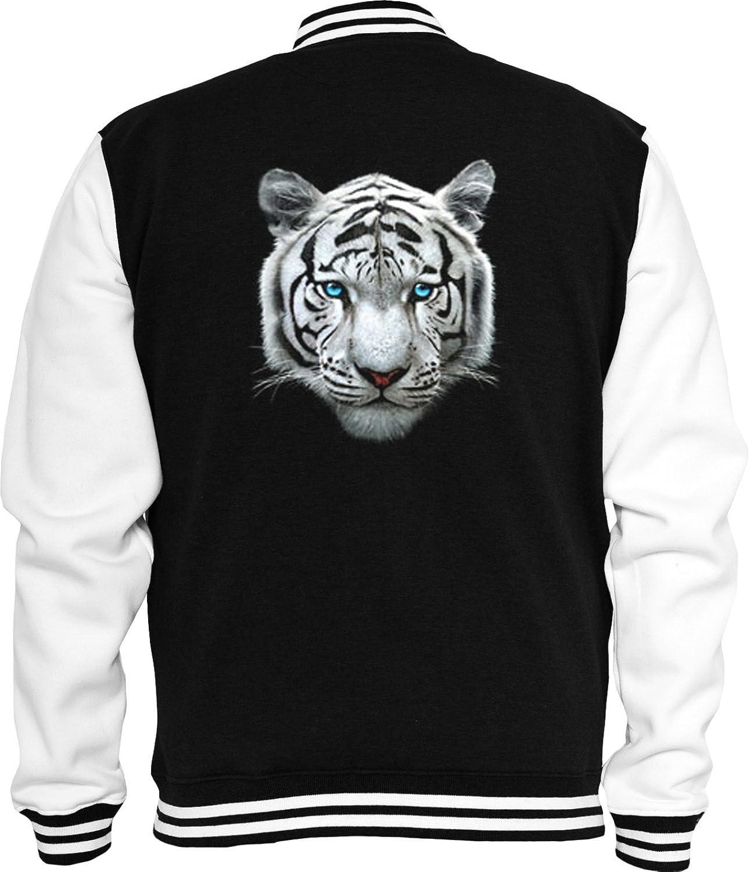 Animal Sweat College jacket Tiger wei? White Tiger Nature Tiermotiv