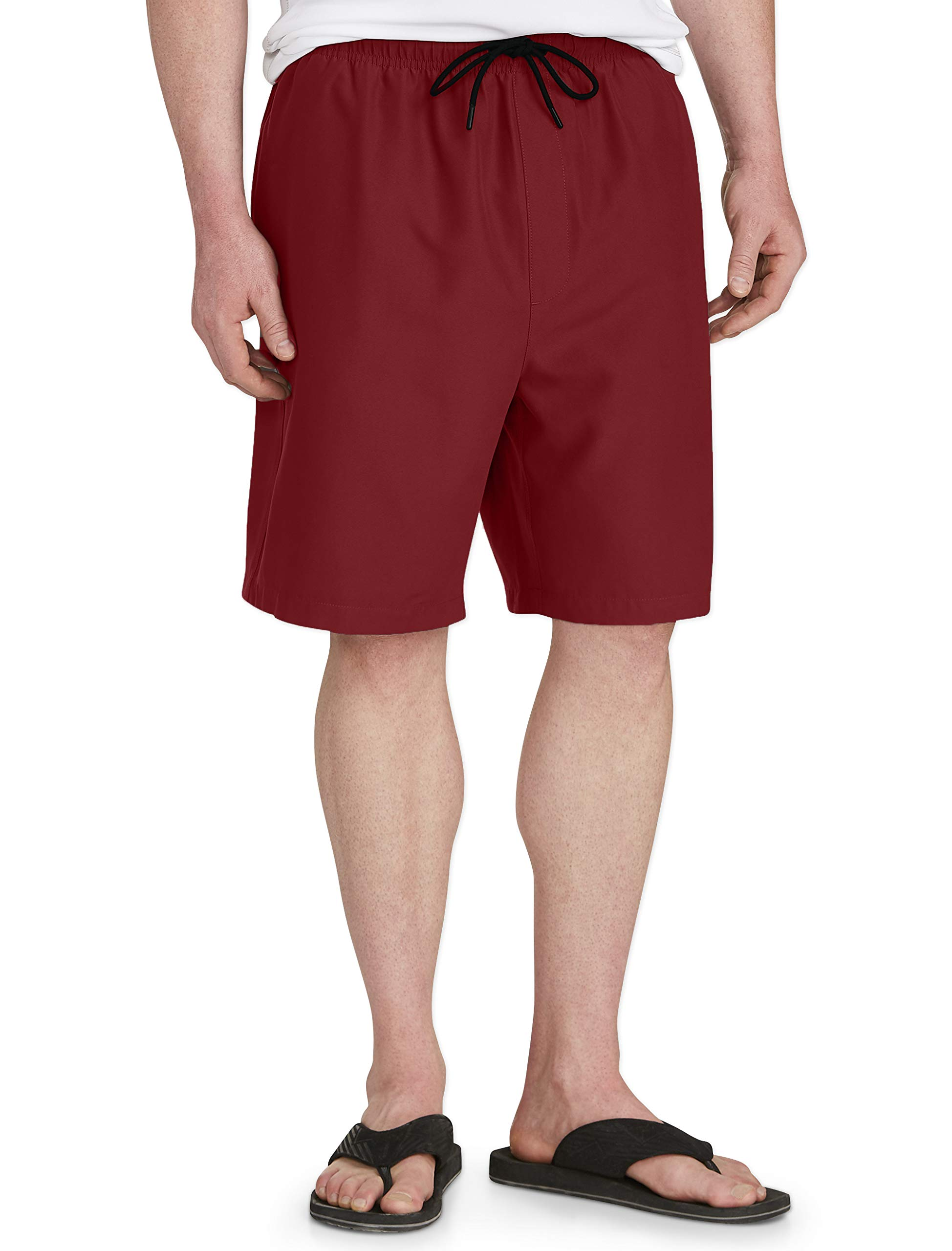 Amazon Essentials Men's Big & Tall Quick-Dry Swim Trunk fit by DXL, Red, 3XLT by Amazon Essentials