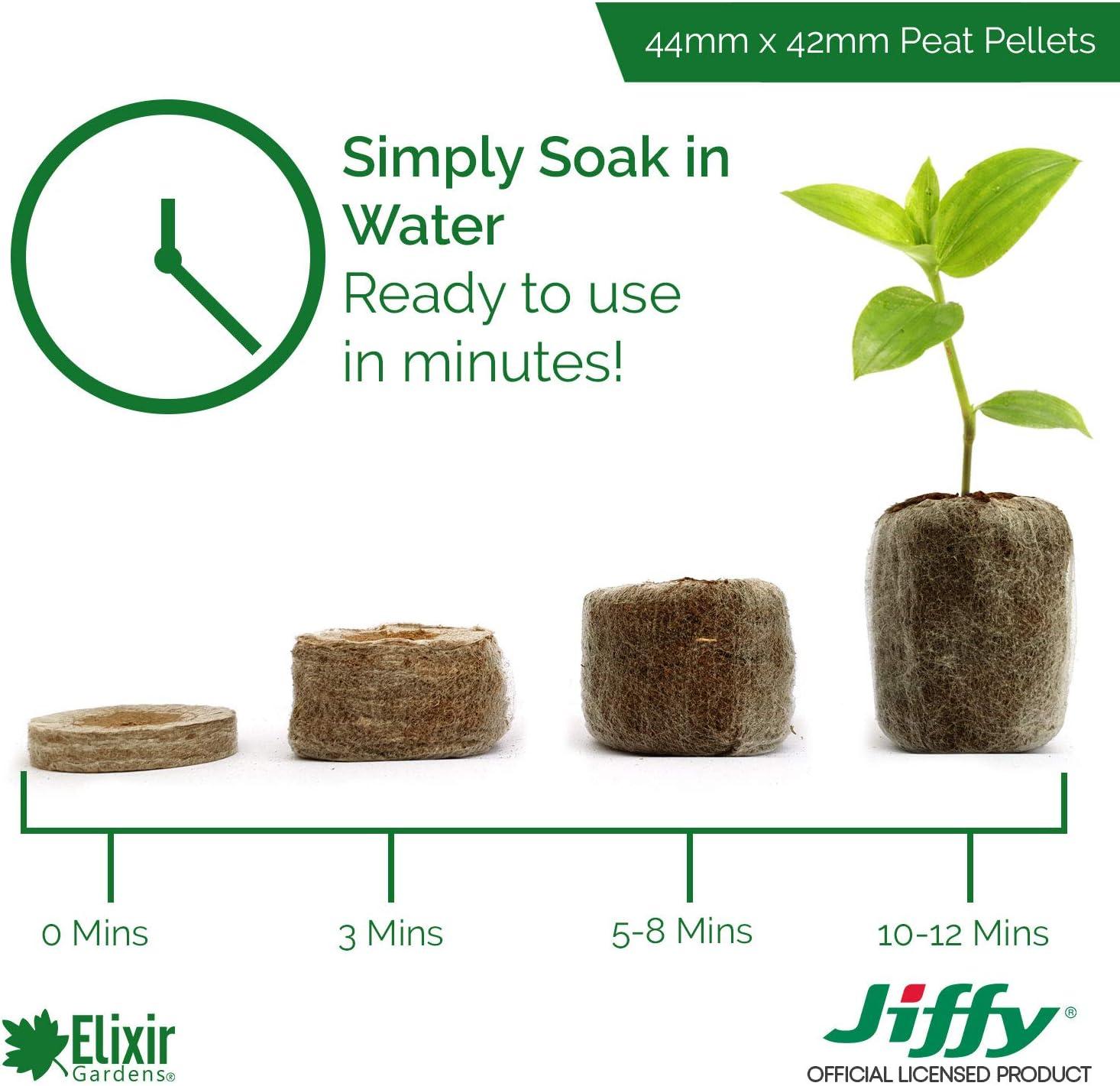 PREMIER SEEDS DIRECT Jiffy 7 33MM X 43MM PEAT//Compost Plug PELLETS X 50