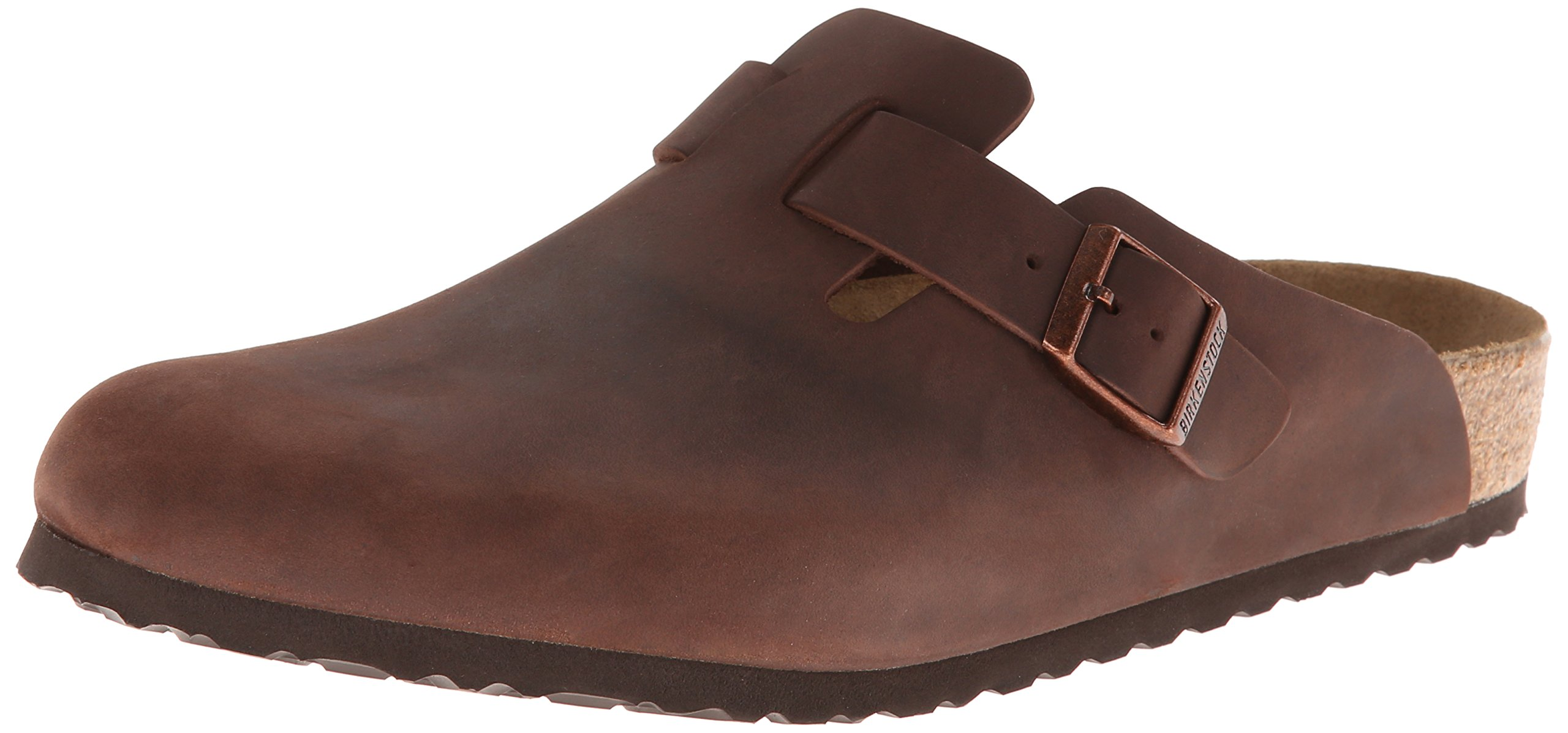 Birkenstock Unisex Boston Soft Footbed, Habana Oiled Leather, 43 M EU