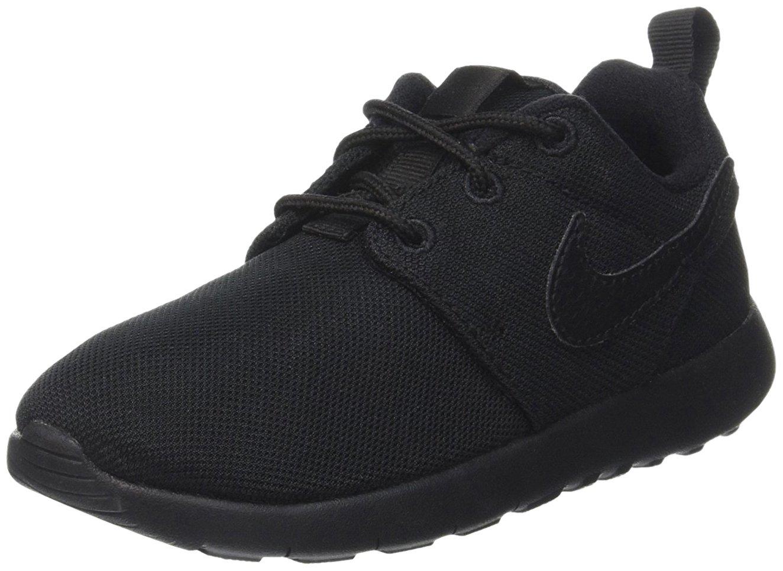NIKE Boy's Roshe One Sneaker (PS) Black/Black-Black Size 13C
