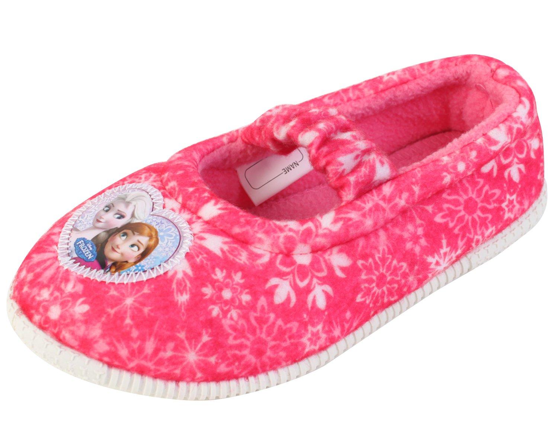 Disney Frozen Elsa Anna Girl's Pink Warm Comfort Indoor Slipper (Parallel Import/Generic Product) (8 M US Toddler)