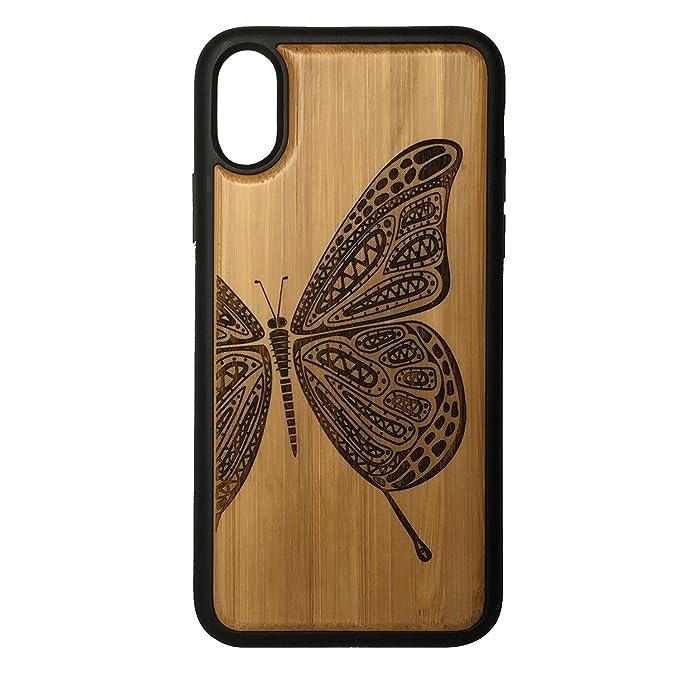 iMakeTheCase - Carcasa para iPhone XS MAX, diseño de Mariposa con ...
