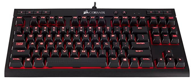Corsair K68 Mechanical Gaming Keyboard, Backlit Led, Dust And Spill Resistant   Linear & Quiet   Cherry Mx Red by Corsair