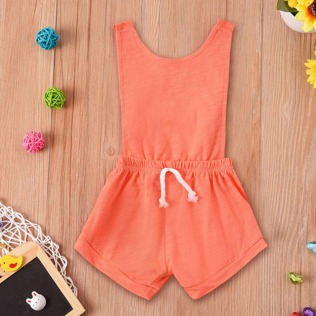 0-2Years,SO-buts Newborn Baby Girls Boy Sleeveless Solid Color Casual Fashion Romper Jumpsuit Outfits Set