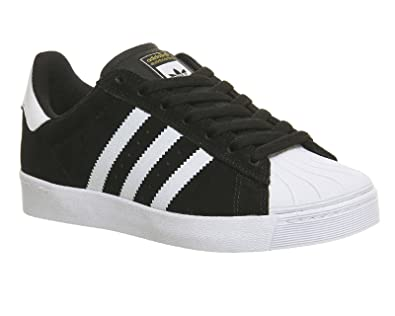 adidas Superstar Vulc ADV, Core Black/FTWR White/Gold Metallic, 12,