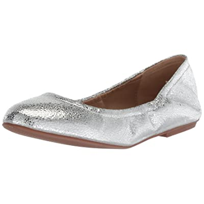 Amazon Brand - The Fix Women's Sonya Scrunch Metallic Ballet Flat: Shoes