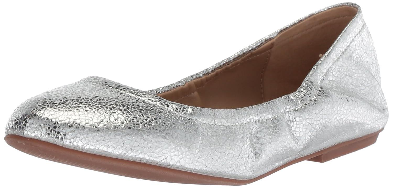The Fix Women's Sonya Scrunch Metallic Ballet Flat B07711423D 9.5 B(M) US Silver Metallic Crackle Leather