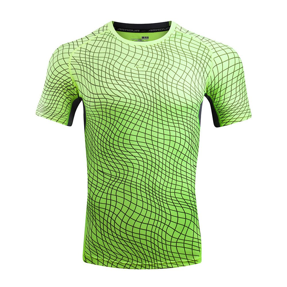 T Shirts for Men, MISYYA Color Match T Shirt Breathable Sweatshirt Sport Undershirt Muscle Tank Top Tee Gifts Mens Tops Green