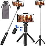 PEYOU Palo Selfie Trípode para Móvil, [3 en 1 ] Palo Selfie Stick con Control Remoto, Mini Selfie Stick para iPhone XS MAX XR 8 8 Plus 6 6s 7 7plus, Samsung Galaxy, Huawei p10 Lite p9 Mate 10