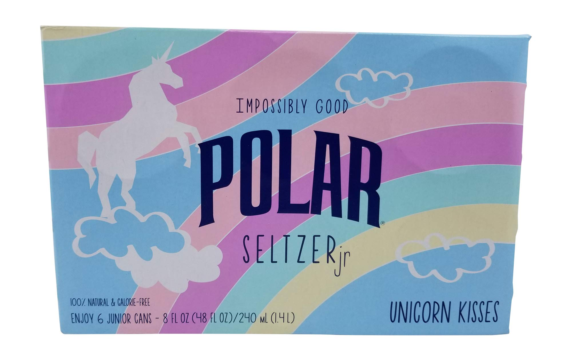 Polar Seltzer Impossibly Good Unicorn Kisses 6 pk 8 oz. cans. by Polar beverage