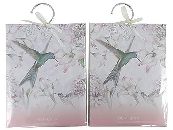 Lot de 2 sachets parfumés Armoire Désodorisant - Parfum linge frais Parfum Armoire Linge on