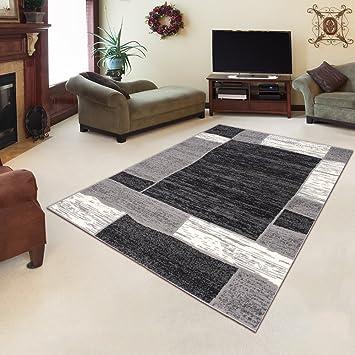 Amazon.de: Tapiso Designer Teppich Wohnzimmer Meliert Bordüre in ...
