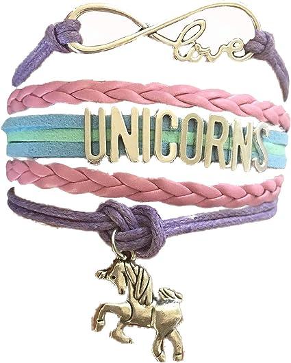Amazon.com: timelogo infinity unicornios pulsera hecho a ...