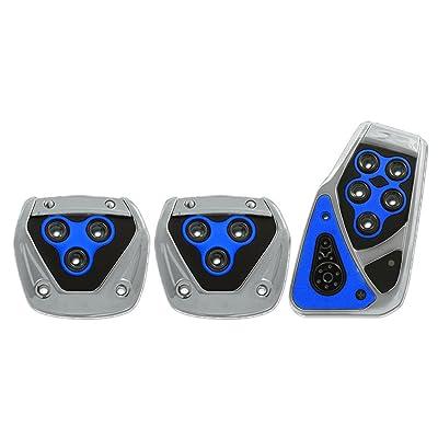 Pilot Automotive Pilot PM-2313B2 Voltage Pedal Pad Set for Manual Transmissions - Black/Blue, 1 Pack: Automotive