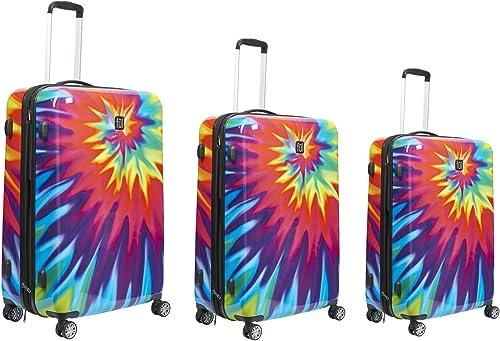 ful Tie Dye 3 Pc Luggage Set, Multi, 3 Piece