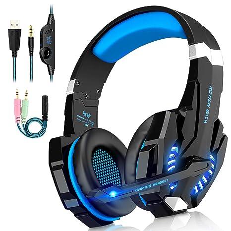Cuffie da Gioco G9000 (Nuovo Modello) Gaming Luce Led e Microfono e  Regolatore Volume 44590434bed0