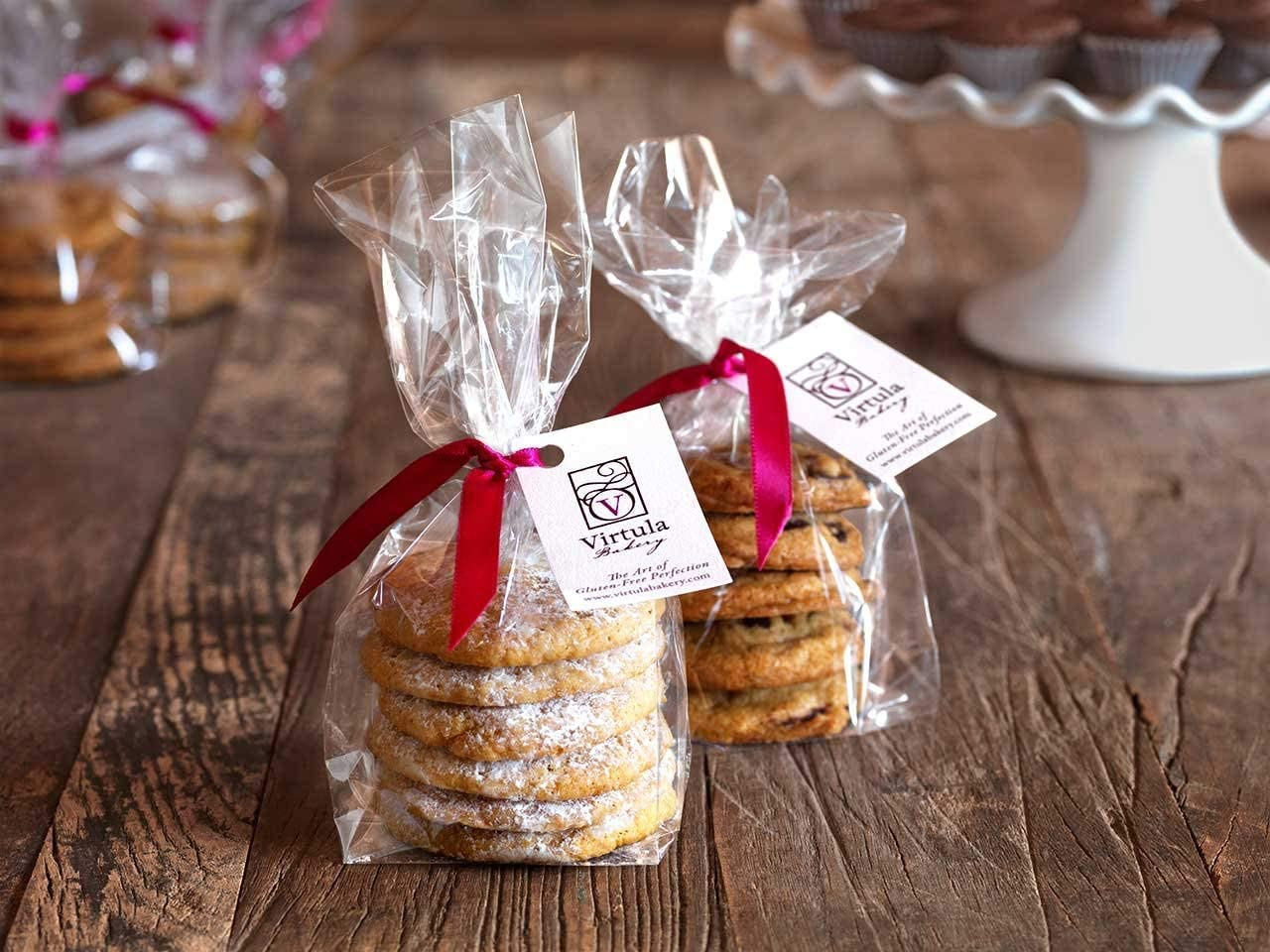 Clear Cookie Party Favor Bags - Poly Gusseted 4W