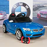 Kids Ride On Car BMW Z4 6V Battery Powered Wheels with Remote, Mat and Keychain, Blue