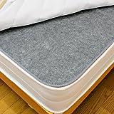 洗える除湿シート シングルサイズ用 90x180cm 備長炭入り 防臭 210-90LC