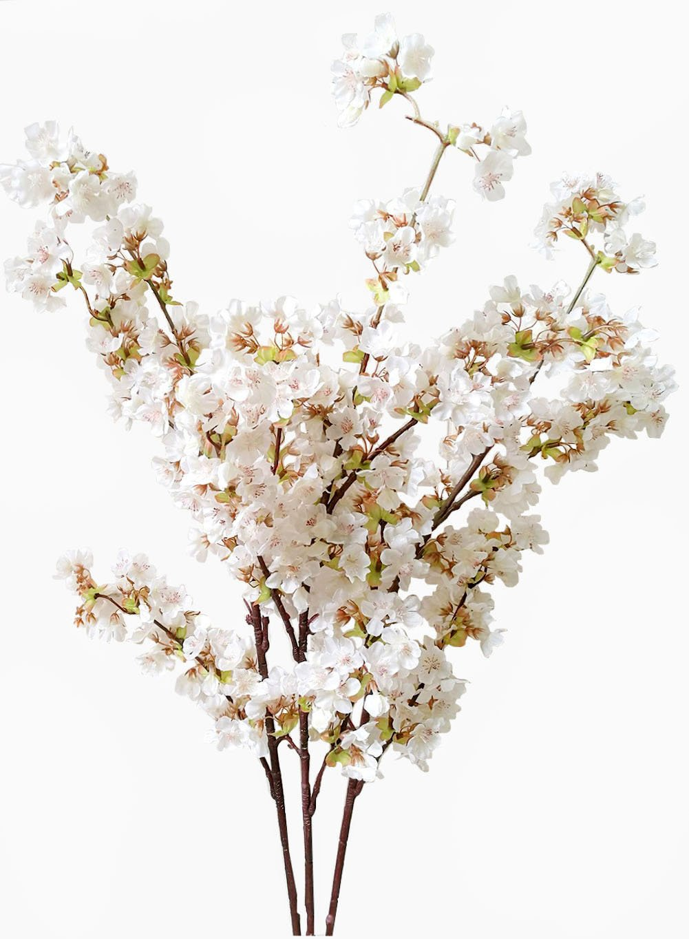 Artificial Flowers Cherry Blossom Branches Stem Silk Tall Fake Home