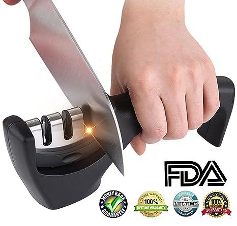 Amazon.com: bestbeing afilador de cuchillos máquina con asa ...
