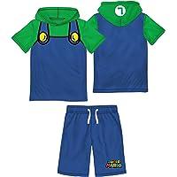 Nintendo Characters Boys Super Mario & Luigi Costume Hoodie Tshirt & Short Set