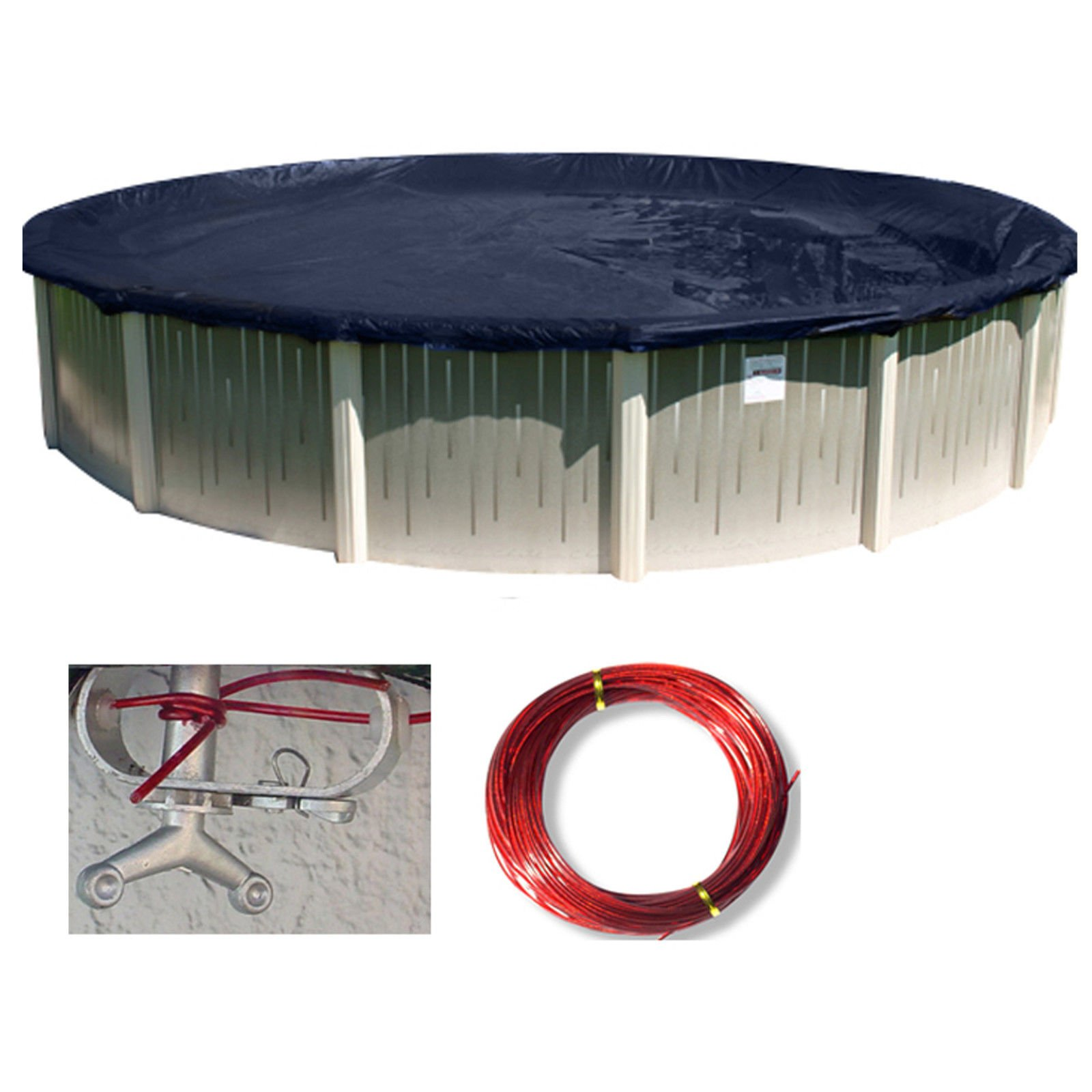 VirtualSurround 24' Round Deluxe Above Ground Swimming Pool Winter Cover