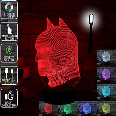 Gift Ideas Batman Night Lights 3D Illusion Lamp Animal Light Led Desk Lamps  Unique Gifts For