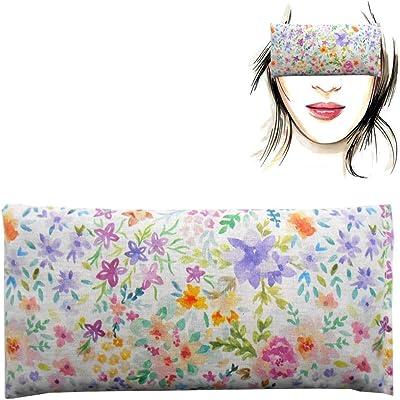 """Almohada para los ojos """"Acuarela""""   Semillas de Lavanda y arroz   Yoga, Meditación, Relajación, descanso de ojos..."""