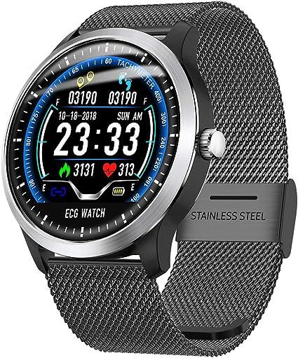 SJZC Reloj Inteligente N58 ECG PPG con EcocardióGrafo ECG Display ...