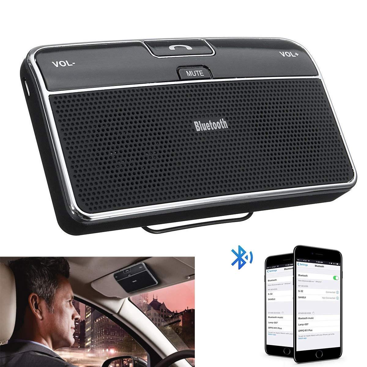 公式の  車用携帯電話 スピーカーフォン ハンズフリー Bluetooth ワイヤレス Bluetooth B07L8ZHGZM ハンズフリー サンバイザー スピーカー Bluetooth レシーバー B07L8ZHGZM, クッション工場/長座布団/抱き枕:425d467d --- jagorawi.com
