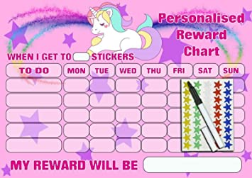 RE-USABLE REWARD CHART FOR CHILDREN BOYS GIRLS Includes Stickers /& Pen