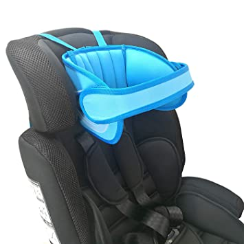 Head Protect Pad on Child Car Seat Universal Suitable for Both Children and Adults Blue Safety Car Sleeping Headrest for Child Toddlers and Adults Adjustable Child Car Seat Head Support Infants