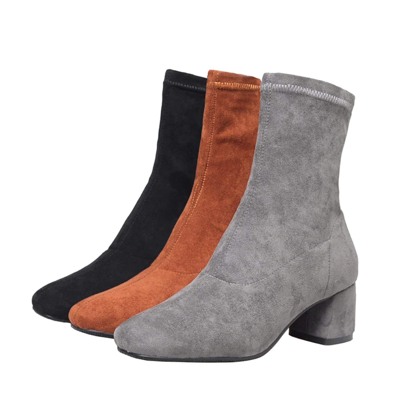 This This This is not a harm. Esto no es un daño. Zapatos de Mujer de tacón Alto, Botas de Tobillo para Invierno, Calcetines elásticos Elegantes, Tacones Altos, Zapatos de Mujer 27824f