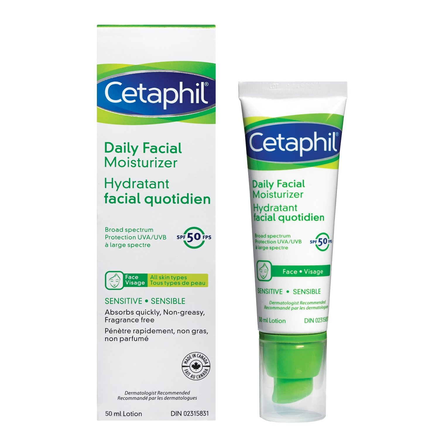 Cetaphil Gentle Skin Cleanser 500ml Beauty 500 Ml Daily Facial Moisturizer Spf 50 50ml