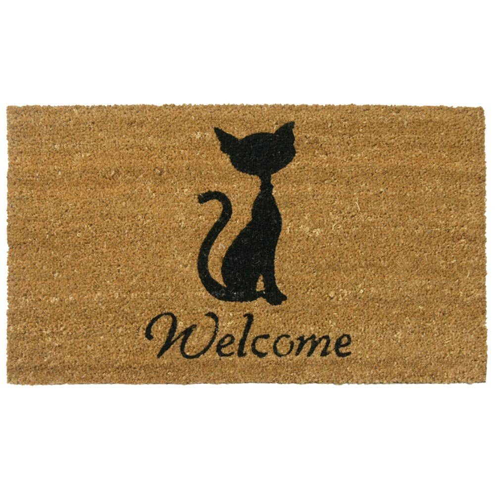 Amazon.com: Rubber-Cal Meow Cat Welcome Mats Cat Doormat, 18 x 30 ...
