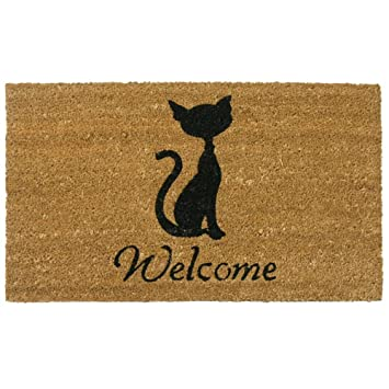 Rubber-Cal Meow Cat Welcome Mats Cat Doormat 18 x 30-Inch  sc 1 st  Amazon.com & Amazon.com: Rubber-Cal Meow Cat Welcome Mats Cat Doormat 18 x 30 ... pezcame.com