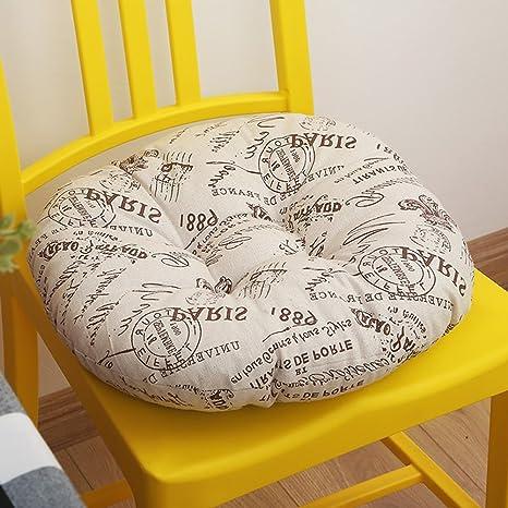 Cojín redondo para silla de comedor con relleno de algodón ...