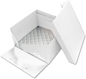 PME Square Cake Card & Cake Box, 9-Inch, White
