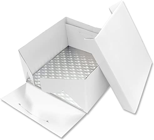 PME Tarjeta Cuadrada para Pastel y Caja para Pastel 11 Pulgadas / 28 cm: Amazon.es: Hogar