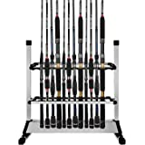 Airkoul 24-rod Portable Fishing Rod Rack Aluminum Fishing Rod Holder Rod Stand Fishing Rods Organizer