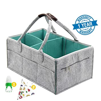 Amazon Baby Diaper Caddy Organizer Zipper Portable Toy