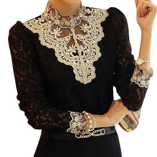 LOBZON - Camisas - Floral - Clásico - para mujer